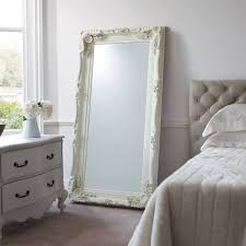 Next Mirrored Bedroom Furniture Gallery Direct Carved Louis 176x90cm Leaner Mirror In Cream Next