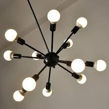 edison light bulb chandelier industrial bulb chandelier in vintage loft style in black finish lights edison
