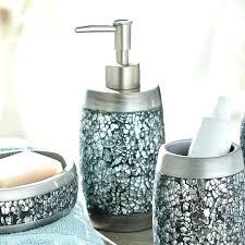 mercury glass bathroom accessories. Glass Bathroom Accessories Black Crackle Recycled Sets Mercury .