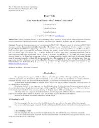 12 Apa Paper Example With Title Page Proposal Letter