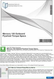 Mercury 150 Outboard Flywheel Torque Specs - PDF
