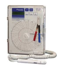 Circular Temperature Chart Recorder Temperature Humidity Dew Point Circular Chart Recorder
