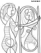Small Picture Paul Klee Senecio coloring page artists school Pinterest