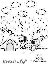 Woezel En Pip Kleurplaat Nieuwe Dingen Herfst Projecten Regen