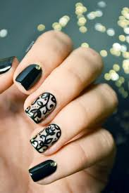 Black Lace Nail Art | Nailscope | NailScope Nails | Pinterest ...