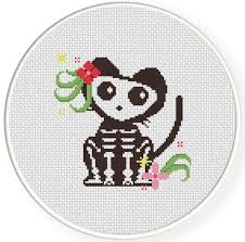Cat Cross Stitch Patterns Cool Skelly The Cat Cross Stitch Pattern Daily Cross Stitch
