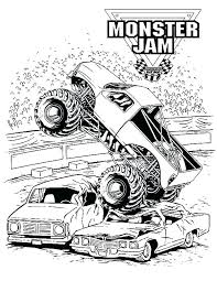 Truck Coloring Pages For Toddlers Monster Truck Coloring Pages Blue