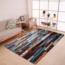 affordable brick wall pattern anti skid water absorption area rug