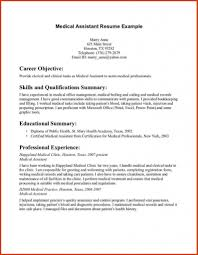 Medical Assistant Resume Samples Job Sample Resumes