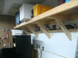 Small Picture Style Garage Storage Shelvesgarage Wood Shelves Diy Wooden Shelf