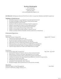 Waiter Resume Word Doc Therpgmovie