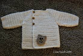 Free Crochet Baby Sweater Patterns Fascinating Free Crochet Patterns And Designs By LisaAuch Easy Baby Crochet