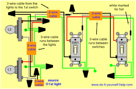 3 way and 4 way wiring diagrams with multiple lights do it Two Switch Wiring Diagram wiring diagram lights first two pole switch wiring diagram