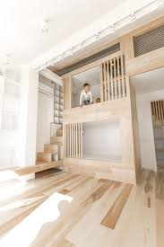 Loft Bedroom Storage Small Loft Apartment Turned Into A Trendy Home Space Saving Ideas