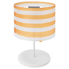 Led Solar Powered Table Lamp Solvinden Outdoor Striped Yellowwhite