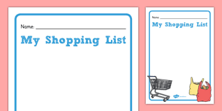 Template For Shopping List Shopping List Template Gaeilge Shopping List Template