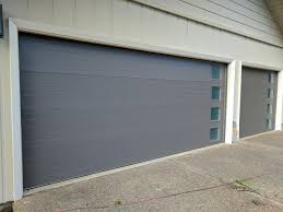 Modern Garage Door Installation with Side Windows :: Perfect Solutions