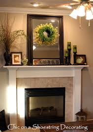Astounding How To Decorate A Mantel With Mirror Above It Images Decoration  Ideas