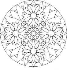 Small Picture Coloring Pages For Adults Mandala FunyColoring