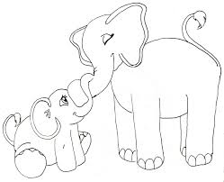 Baby Elephant Drawings Baby Elephant With Mom Clipart Great Free Clipart Silhouette