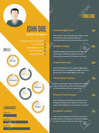 New Modern Resume Cv Curriculum Vitae Template Design With Photo