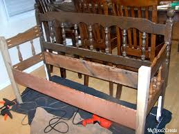 Bench Out Of Headboard Headboard Bench Or Loving Referred To As The Puzzle Bench My