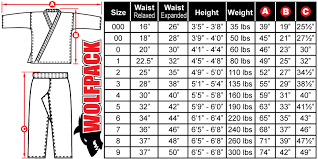 Karate Belt Size Chart 8 5oz Middleweight Traditional Uniform Set Red