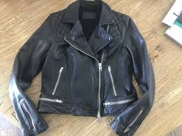 brand new all saints conroy leather jacket from the uk
