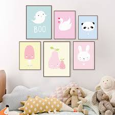 >kawaii animal panda poster print a4 modern nordic cartoon nursery  kawaii animal panda poster print a4 modern nordic cartoon nursery wall art picture kids baby room decor canvas painting no frame in painting calligraphy