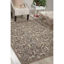 reviews wayfair interesting nourison area rugs nourison marina silver patterned area rug 8 x 106 free