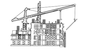 architecture building drawing. Under Construction Building With Crane Sketch Line Drawing Animation Transparent Background Motion - Videoblocks Architecture