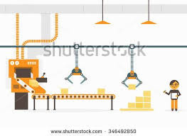ideas about conveyor system conveyor belt conveyor system in flat design factory production vector illustration