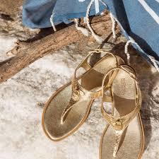 michael michael kors mira embossed leather sandal