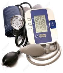 analog manometer. close-up view to analog and digital blood pressure manometer on white background. not m