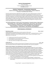 Downloadable Product Manager Resume Templates Free Product Manager