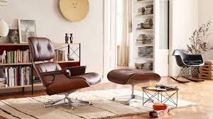 eames leather chair and footstool. lounge chair ottoman occasional table ltr eames plastic armchair rar metal wall relief sun wiggle stool leather and footstool