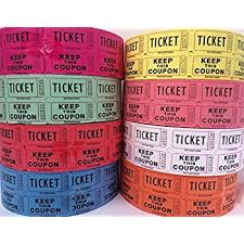 images of raffle tickets amazon com double raffle ticket roll toys games