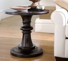 amazing pedestal accent table with pottery barn rustic pedestal accent table copy cat chic