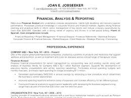 Annual Report Analysis Sample Amazing Financial Analysis Sample Simple Resume Examples For Jobs