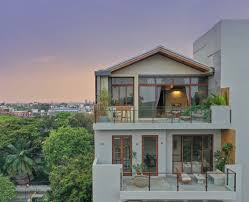Design Tree Bangalore This Bangalore Family Penthouse Makes A Hero Out Of Sandstone