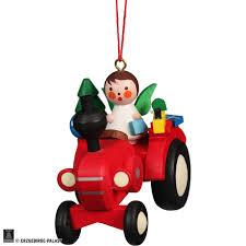 Christbaumschmuck Traktor Mit Engel 5751 Cm