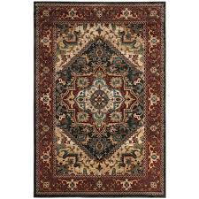 safavieh summit shiraz dark gray red indoor oriental area rug common 9 x