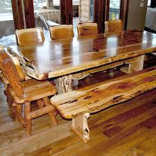 log cabin dining room ideas. log cabin builder - juniper hybrid dining table/bench set room ideas c