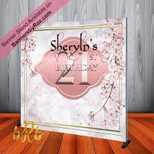 Cherry Blossom Backdrop Cherry Blossom Backdrop Step N Repeat Backdrop For 21st Birthday 50th 40th 30th Birthday Sweet 16 And Weddings