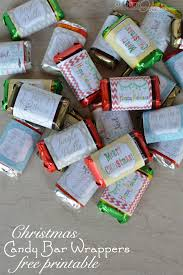 Exclusive free printable candy bar wrappers holiday candy. Mini Candy Bar Christmas Wrappers Tag Our Thrifty Ideas