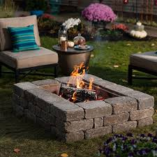 finished modern fire pit