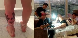 месси испортил ноги татуировкой