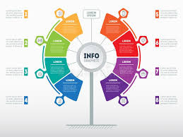 Web Template Of Service Tree Info Chart Or Diagram Vector