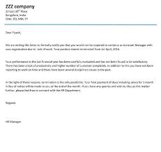 Download Termination Letter Format Employee Insubordination Sample