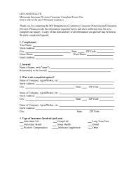 Minnesota Insurance Commissioner Complaint